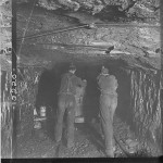 Historical photo of coal miners
