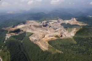 Mountain top coal mines